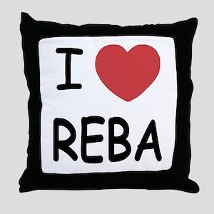 I heart Reba Throw Pillow