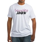 Geocaching Junkie - Pink Fitted T-Shirt