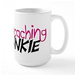 Geocaching Junkie - Hot Pink Large Mug