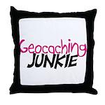 Geocaching Junkie - Hot Pink Throw Pillow