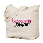 Geocaching Junkie - Hot Pink Tote Bag