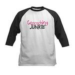 Geocaching Junkie - Hot Pink Kids Baseball Jersey