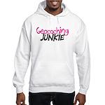 Geocaching Junkie - Hot Pink Hooded Sweatshirt