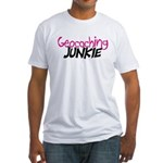 Geocaching Junkie - Hot Pink Fitted T-Shirt