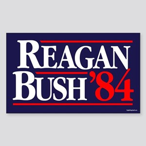 Reagan Bush '84 Campaign Sticker (Rectangle)