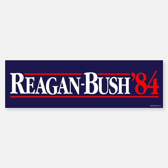 Reagan Bush '84 Campaign Sticker (Bumper)
