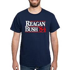 Reagan Bush '84 Campaign Dark T-Shirt
