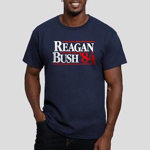 Reagan Bush '84 Campaign Men's Fitted T-Shirt (dar