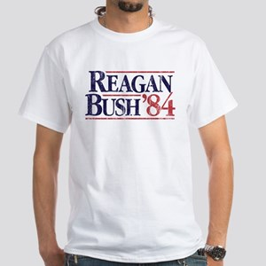 Reagan Bush '84 Campaign White T-Shirt