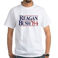 Reagan Bush '84 Campaign White T-Shirt