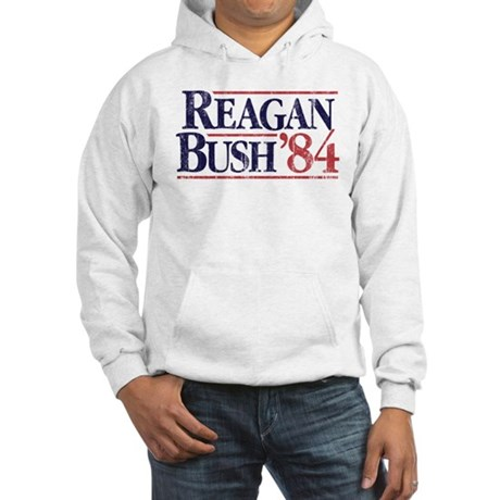 Reagan Bush '84 Campaign Hooded Sweatshirt