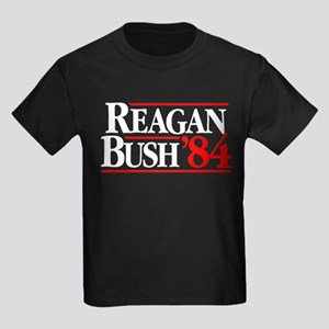 Reagan Bush '84 Campaign Kids Dark T-Shirt