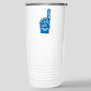 Your Team Foam Finger Stainless Steel Travel Mug