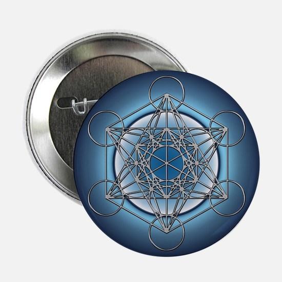 "Metatrons Cube 2.25"" Button"