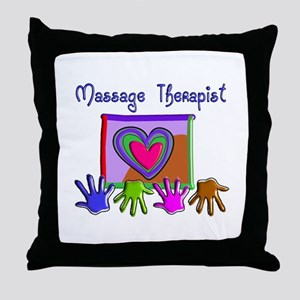Massage Therapy Throw Pillow