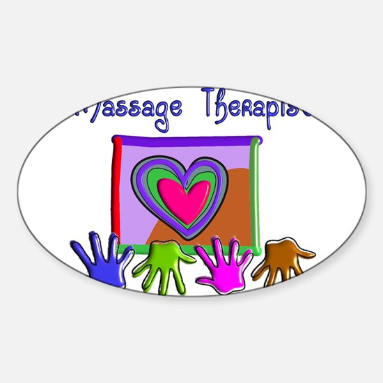 Massage Therapy Sticker (Oval)