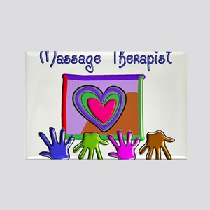 Massage Therapy Rectangle Magnet