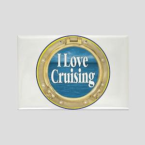 I Love Cruising Rectangle Magnet