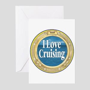 I Love Cruising Greeting Cards (Pk of 10)