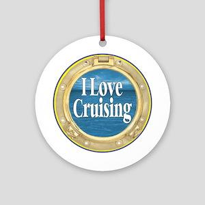 I Love Cruising Ornament (Round)