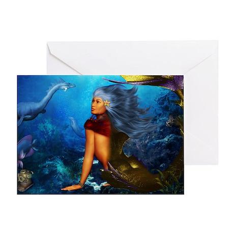 Hawaiian Mermaid Greeting Card