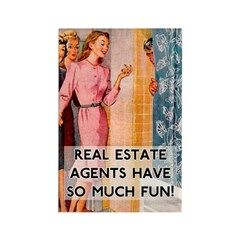 Real Estate Agents Rectangle Magnet