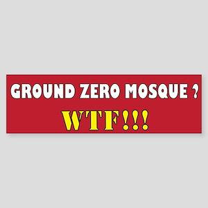 No Mosque Ground Zero Sticker (Bumper 10 pk)