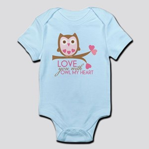 Love you with owl my heart Infant Bodysuit