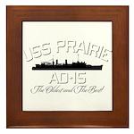 USS Prairie AD-15 Framed Tile