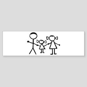 Stickman family Sticker (Bumper)