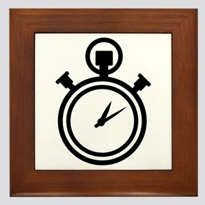 Stop watch clock Framed Tile