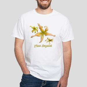 Fairyscape Daylilies White T-Shirt