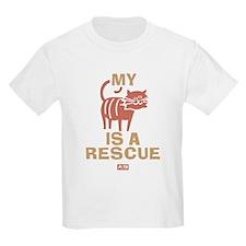 My Cat Is A Rescue Kids Light T-Shirt