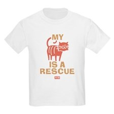 My Cat Is a Rescue Kids Light T-Shirt