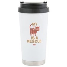My Cat Is a Rescue Stainless Steel Travel Mug