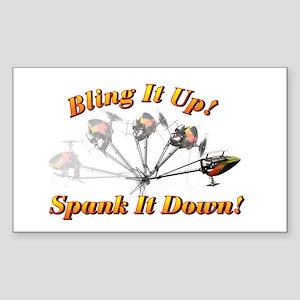 Bling It Spank It Sticker (Rectangle)