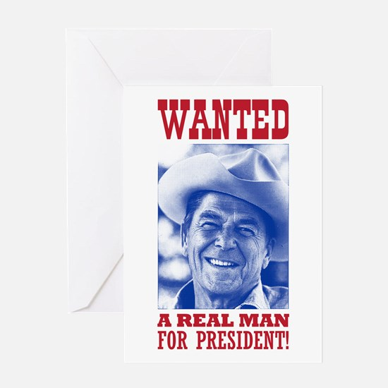 WANTED: Real Man for Prez Greeting Card