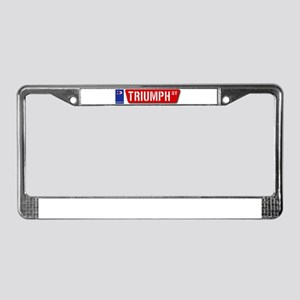 Official Dowco Triumph Street License Plate Frame