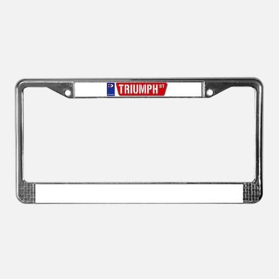 Official Dowco Triumph Street License Plate Frame