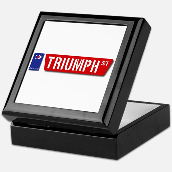 Official Dowco Triumph Street Keepsake Box