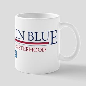 Women In Blue Mug
