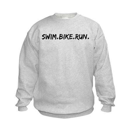 Swim. Bike. Run. Kids Sweatshirt