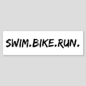 Swim. Bike. Run. Sticker (Bumper)