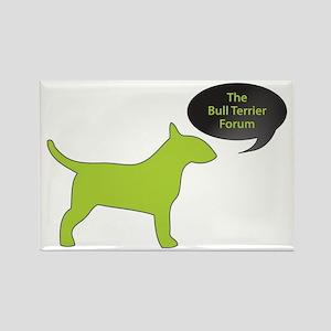 The Bull Terrier Forum Rectangle Magnet