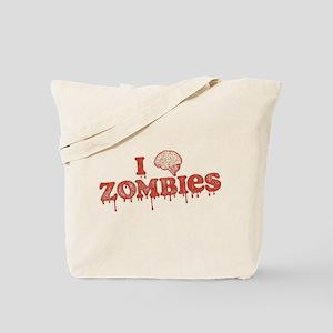 I Brain Zombies Tote Bag