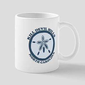 Kill Devil Hills NC - Sand Dollar Design Mug