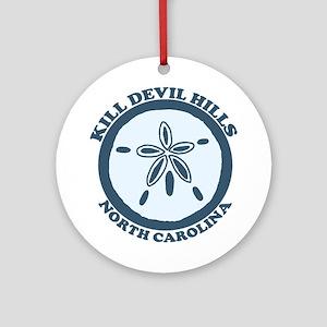 Kill Devil Hills NC - Sand Dollar Design Ornament