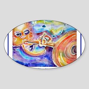 Music! Bright Fun! Sticker (Oval)