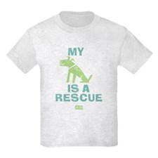 My Dog Is a Rescue Kids Light T-Shirt