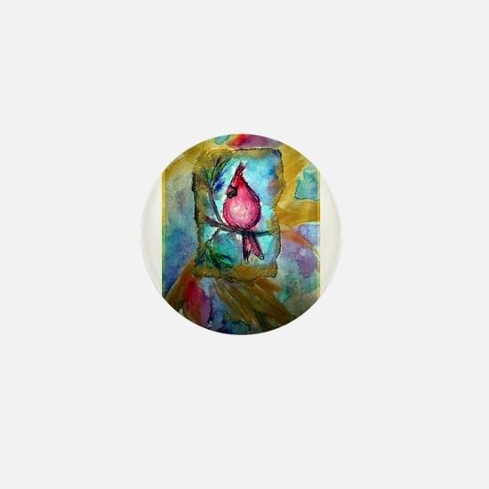 Cardinal, Cheerful, Bird lover, Mini Button